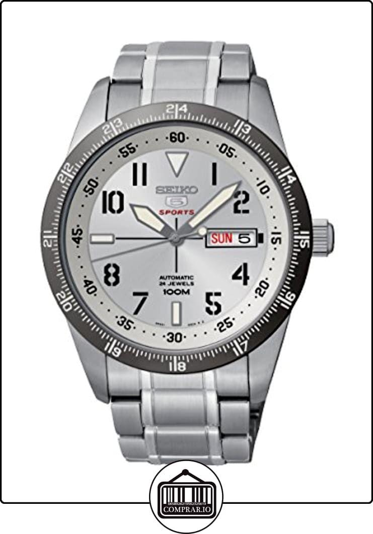 Seiko  Seiko 5 Sports - Reloj de automático para hombre, con correa de acero inoxidable, color plateado de  ✿ Relojes para hombre - (Gama media/alta) ✿