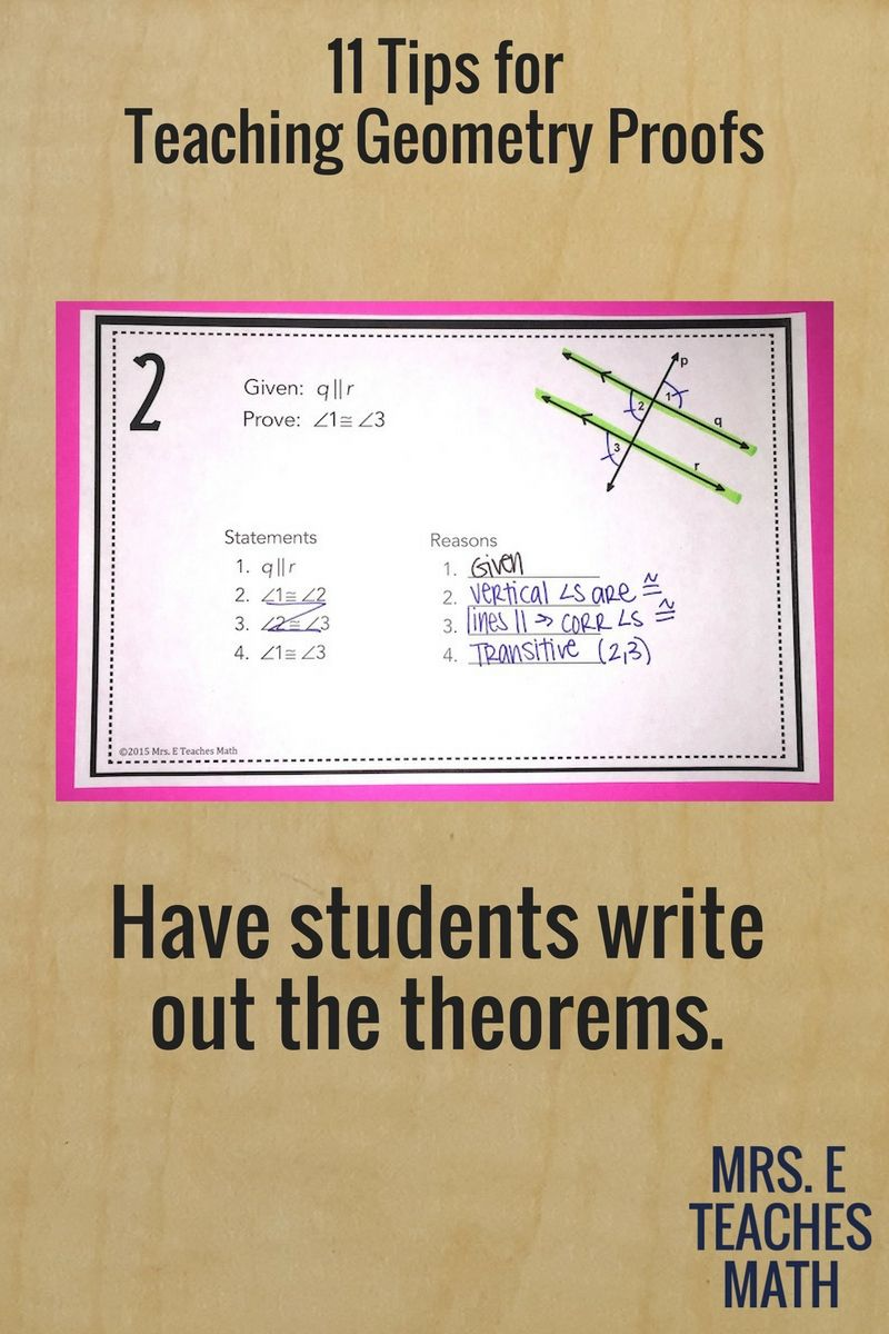 11 Tips for Teaching Geometry Proofs | Geometry proofs, Maths and School