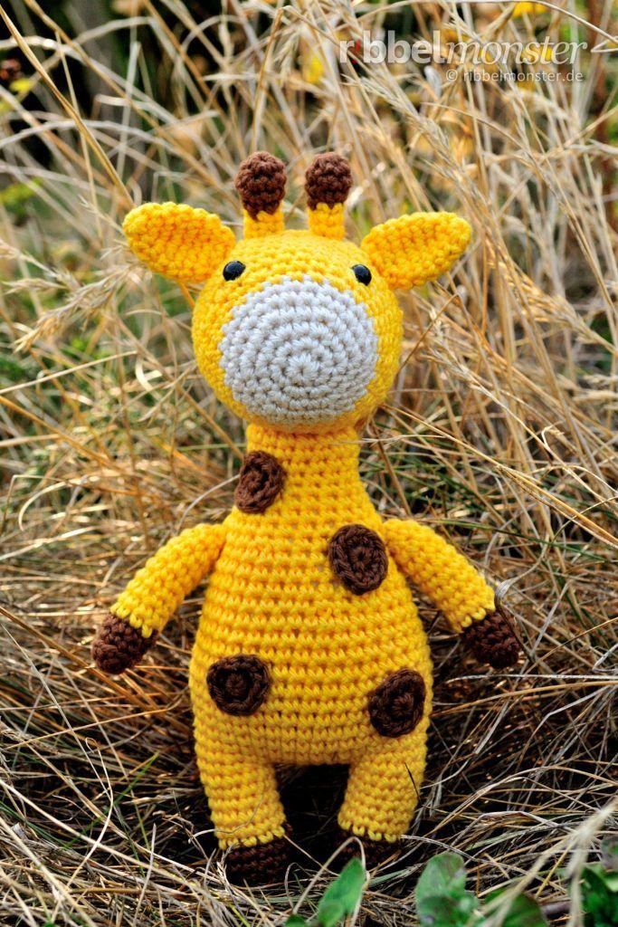 "Photo of Amigurumi – Giraffe häkeln ""Hans Joachim"" – free pattern – Ribbelmonster"