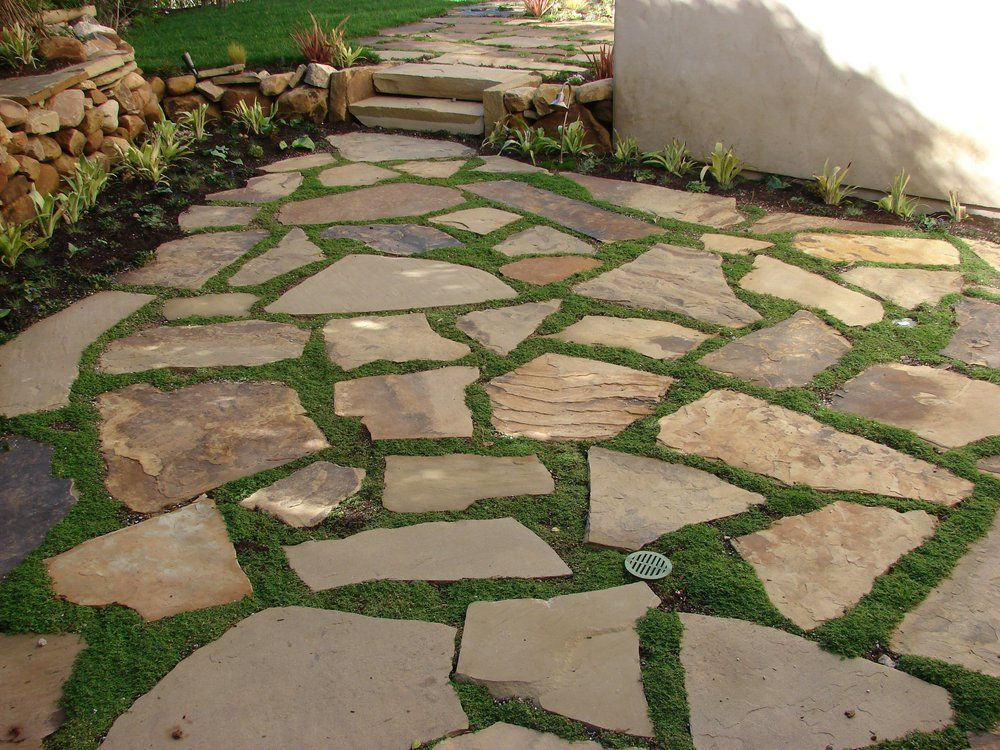 soft set flagstone patio with ground cover | woodworking/home ... - Patio Ground Cover Ideas