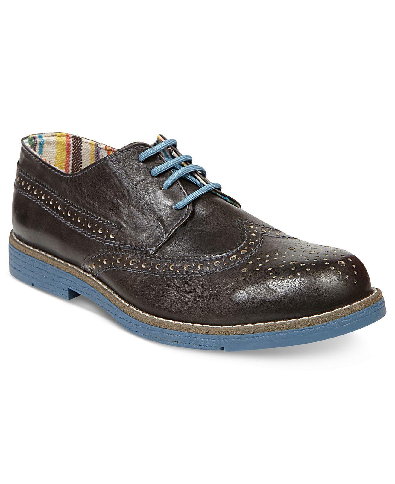 a89e4cdb6ca Steve Madden Men's Shoes, Jazzman Wingtip Oxfords - Mens Shoes - Macy's