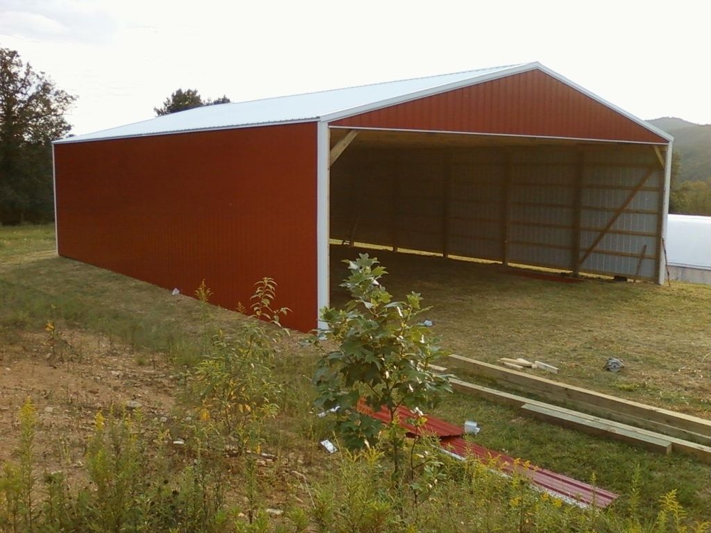 Hay storage shed 40x60x14 barns for Farm shed ideas