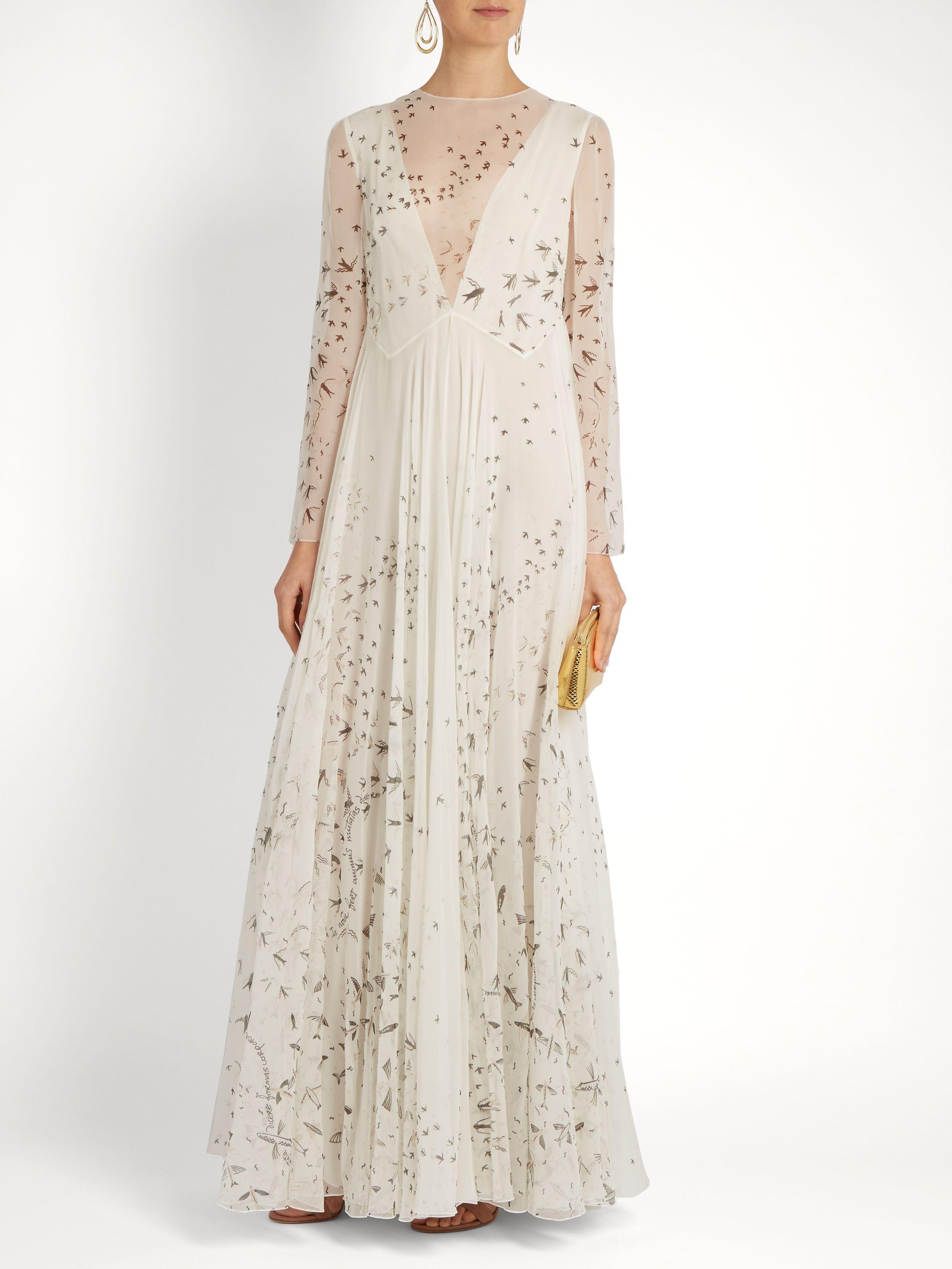 Valentino Woman Embellished Chantilly Lace Silk Mini Dress White Size 38 Valentino Cheap Low Cost ZRBhXbi
