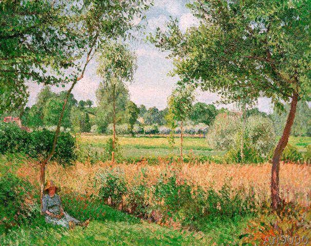 Camille Pissarro - Matin, effet de soleil, Eragny