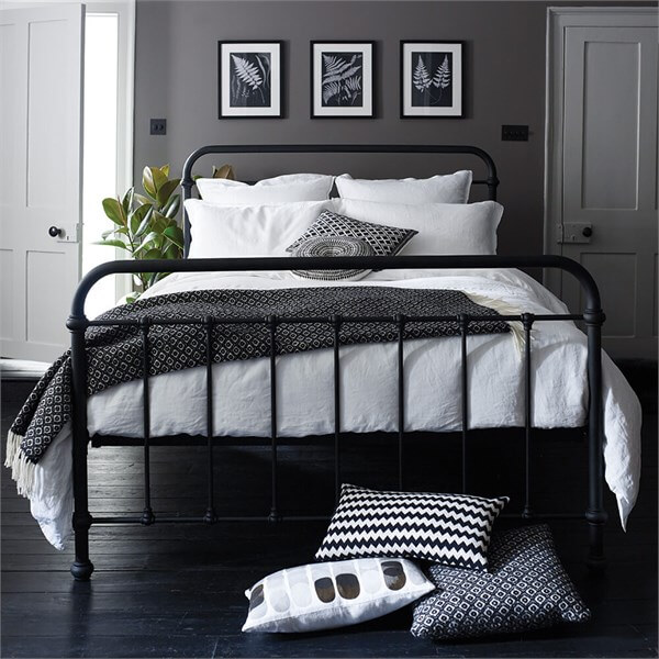 Metal Beds For Sale Wrought Iron Bed Feather Black In 2020 King Size Bedroom Sets Black Bed Frame Black Bedroom Sets