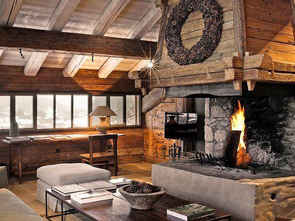 Attraktive Dekoration Design Alpen Hutte