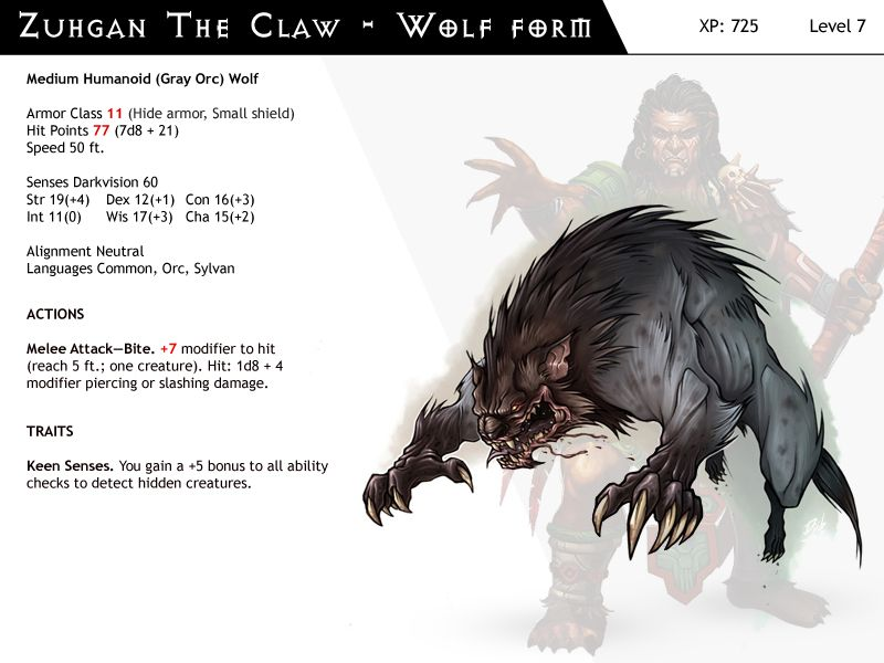 Dnd Next Npc Cards Zuhgan Wolf Form By Dizman Dnd Monsters Dungeons And Dragons Characters Dungeons And Dragons Homebrew I suspect a dire wolf is probably out of the question, though. pinterest