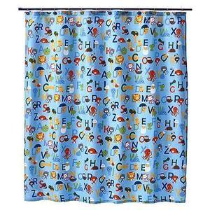 New Circo Alphabet Collection Children Fabric Shower Curtain Blue 72 X