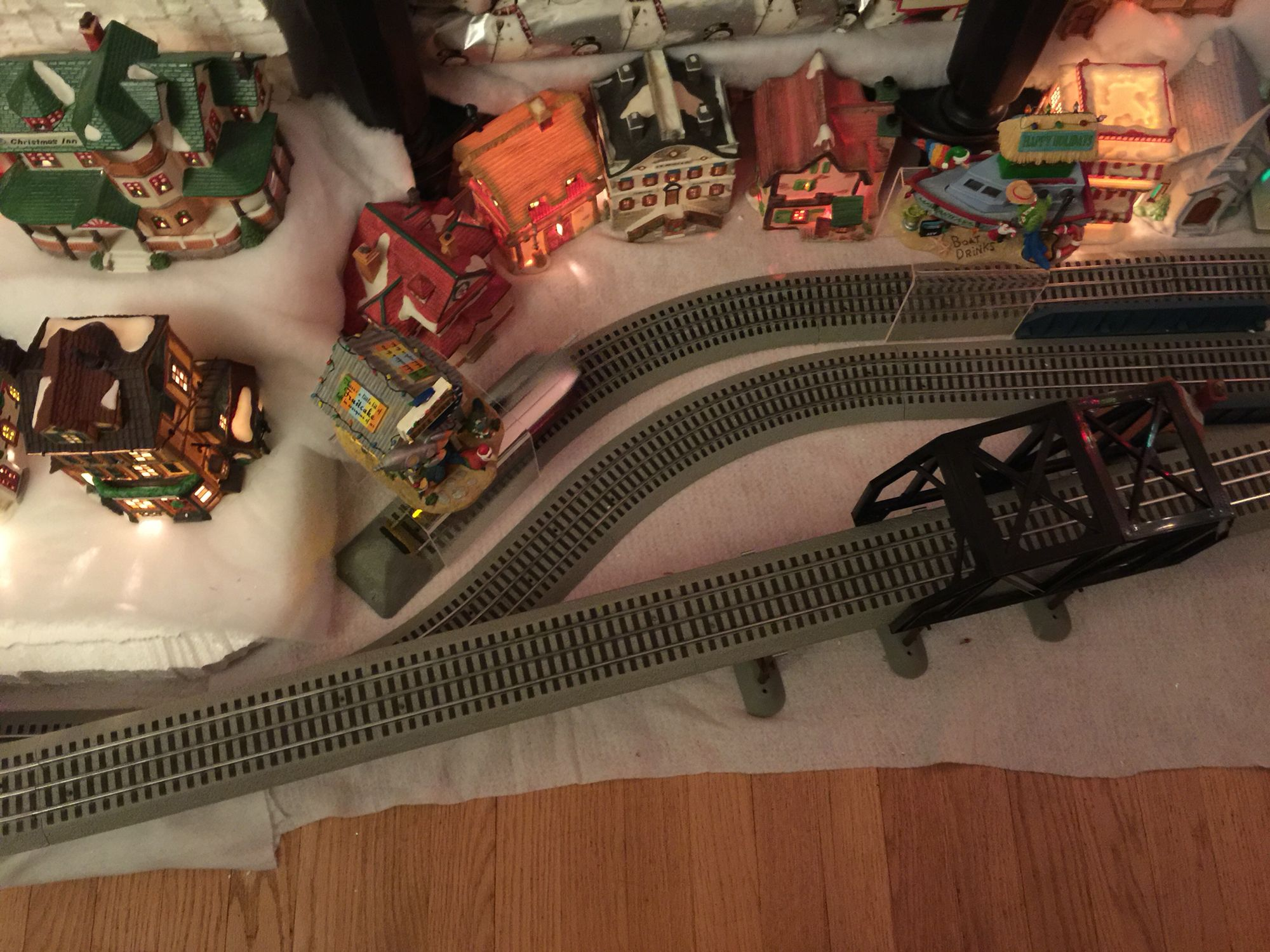 Lionel Trolley On Fastrack In Christmas Village Christmas Villages Trainstrain