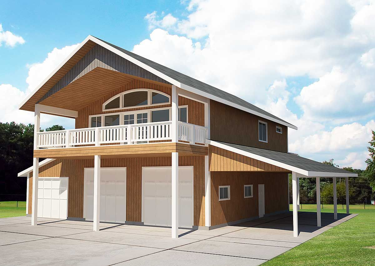 Popular Compact Design | Garage house plans, Carriage ...
