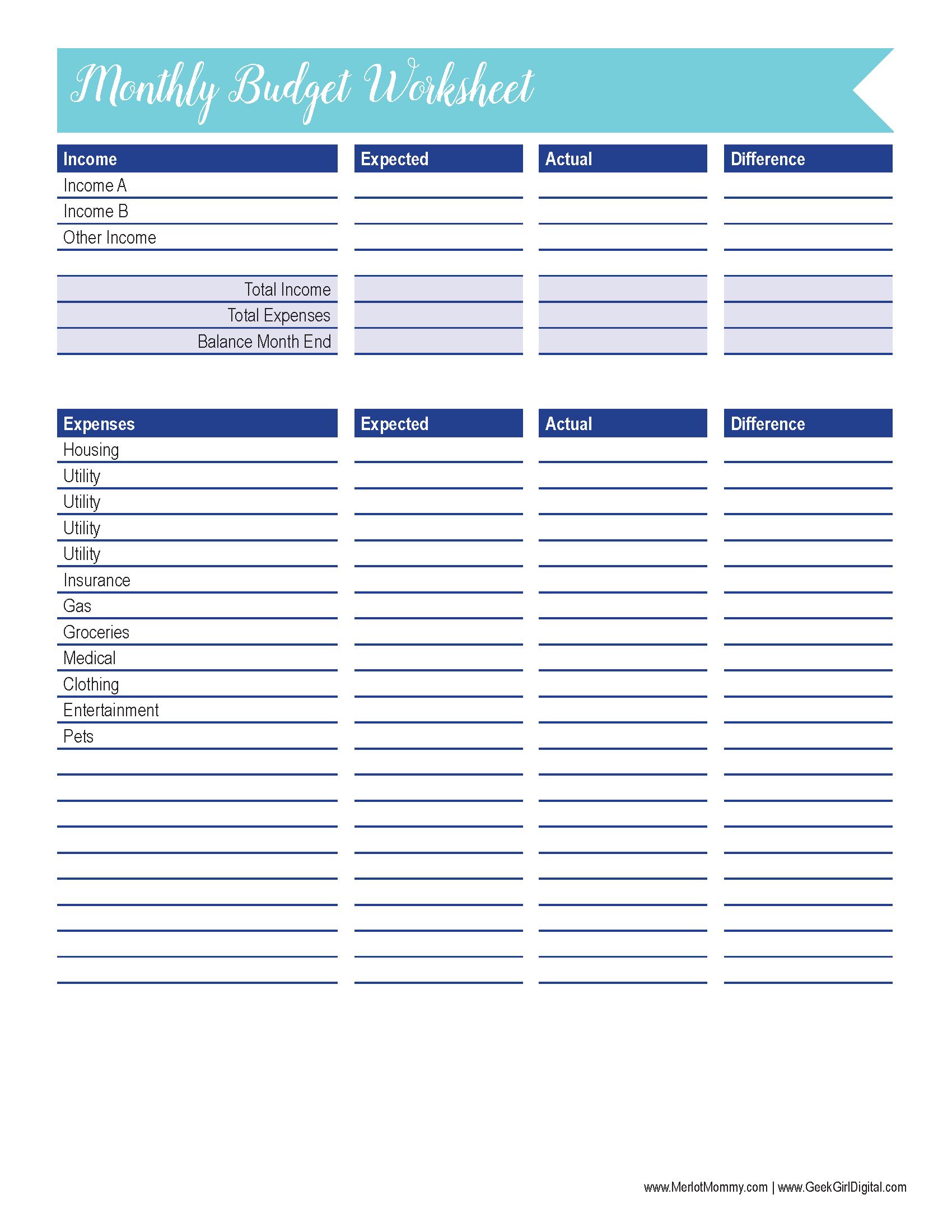 39 Innovative Budget Worksheet Design S