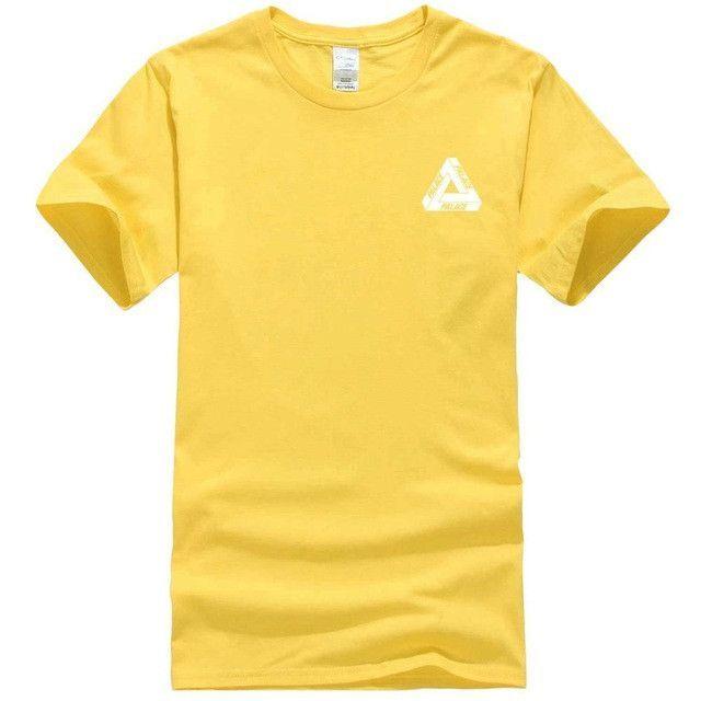 Palace Skateboard VERTICAL TRI STRIPE 2016 Men T-shirts Triangle GD Hip Hop Crop Top Harajuku Tee