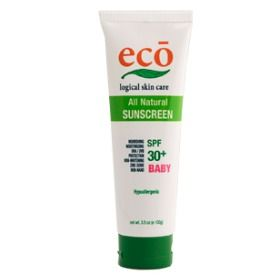 All Natural Eco Logical Skin Care Baby Sunscreen SPF 30+  | The List: 23 Ways to Stay Safe in the Sun