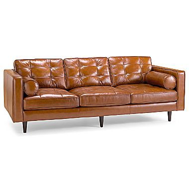 Darrin 89 Leather Sofa Jcpenney Leather Sofa Tufted Leather Sofa Living Room Leather