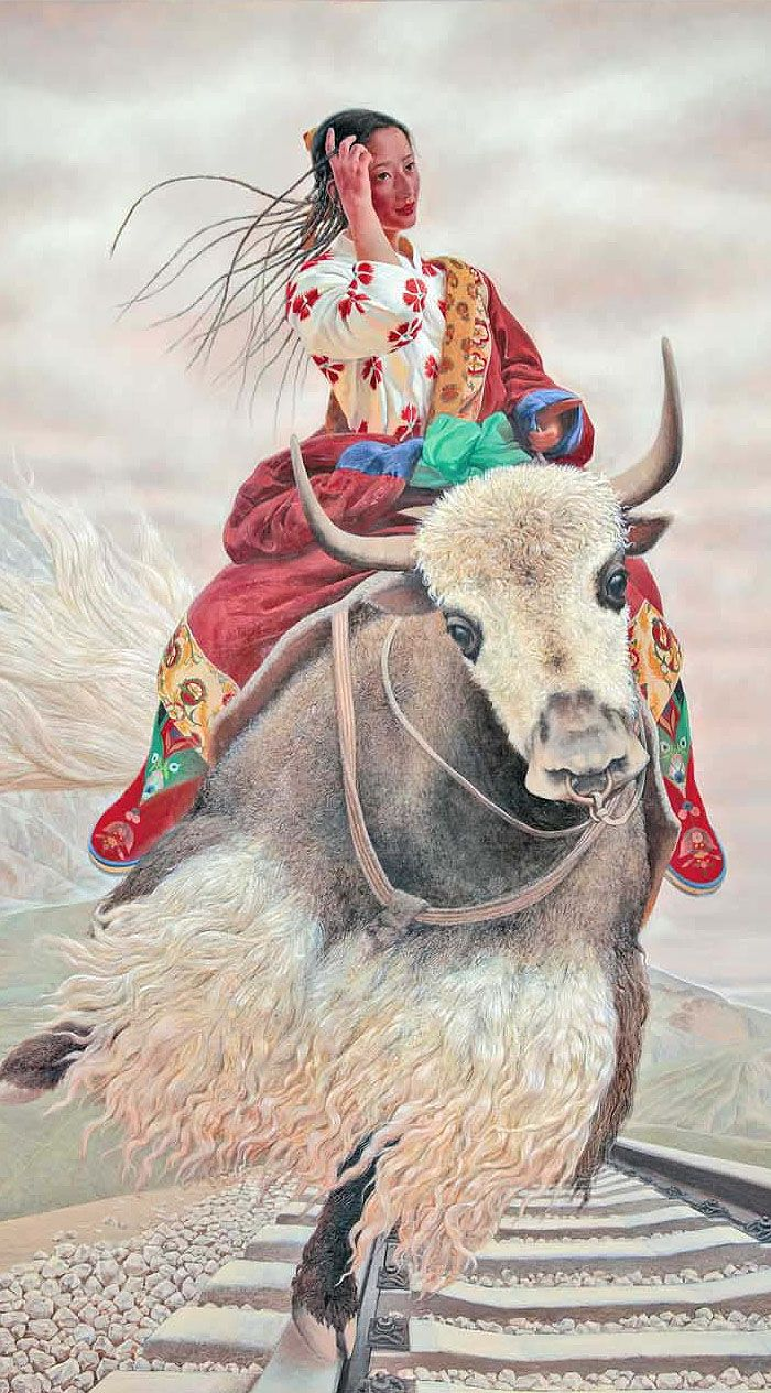 Летающий Тибет китайского Шагала » Сохраним Тибет!   Тибет, Далай-лама, буддизм