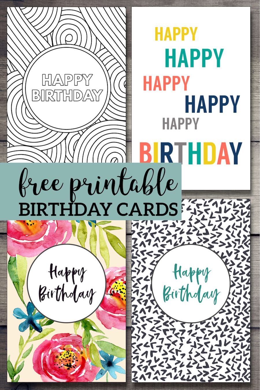 Free Printable Birthday Cards Paper Trail Design Free Printable Birthday Cards Happy Birthday Cards Printable Birthday Cards To Print
