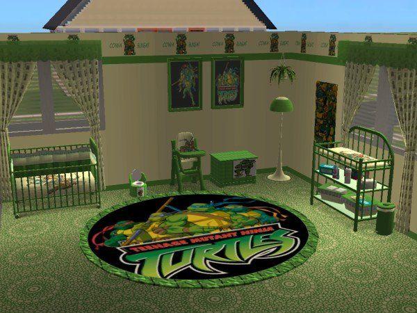 Mod The Sims Teenage Mutant Ninja Turtles Nursery And Bedroom Ninja Turtle Bedroom Ninja Turtles Bedroom Decor Teenage Mutant Ninja Turtles Bedroom