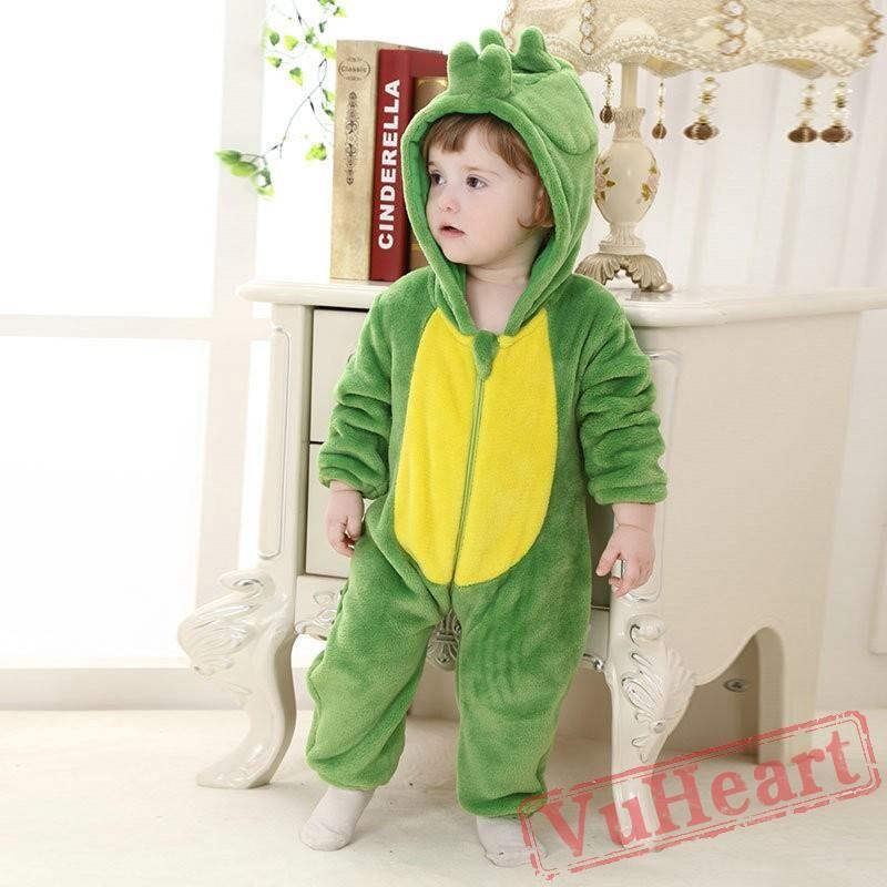 d750bb1039b1 Green Dinosaur Kigurumi Onesies Pajamas Costumes Toddler Pajamas for ...
