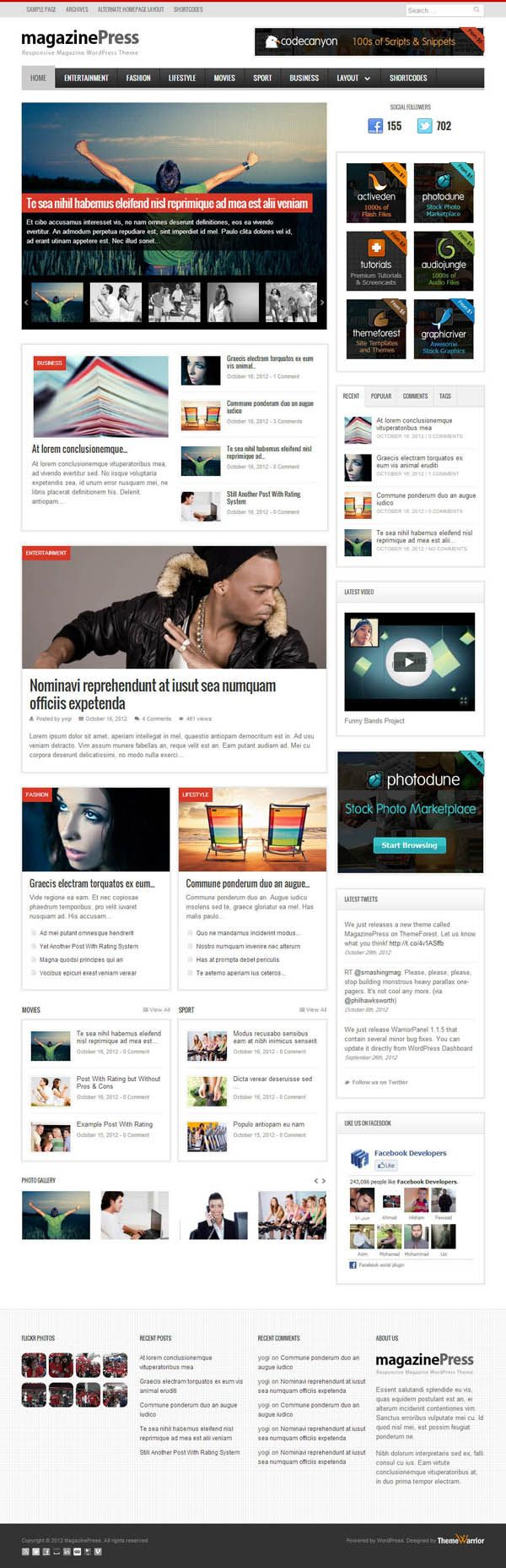 Responsive Wordpress Themes Other Inspiring Websites Pinterest
