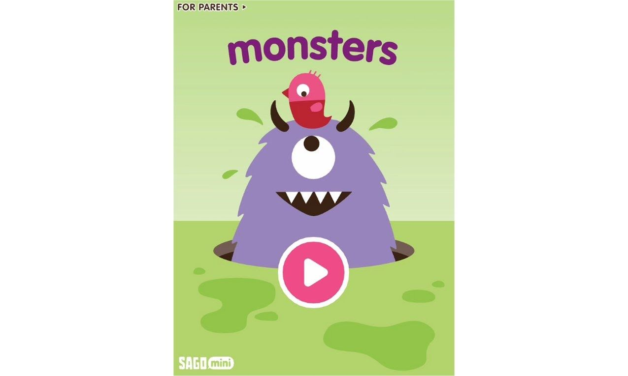 sago mini monsters interactive coloring app for kids - Coloring Apps For Kids
