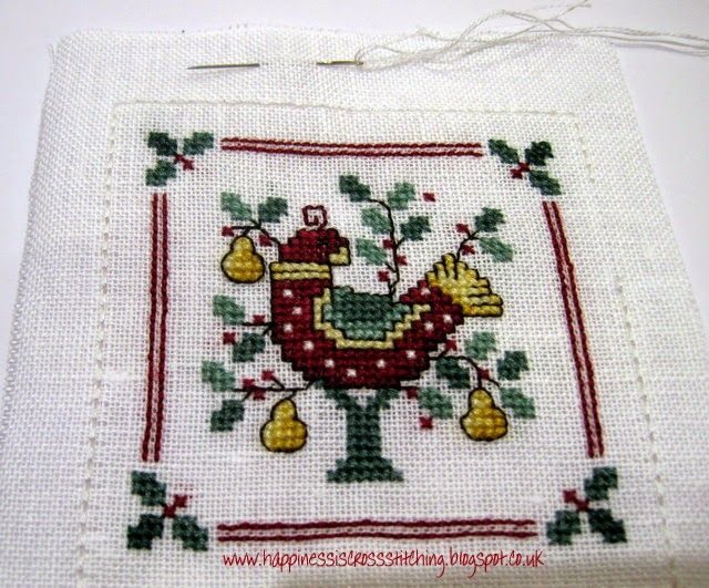 Happiness is Cross Stitching : A Partridge in a Pear Tree