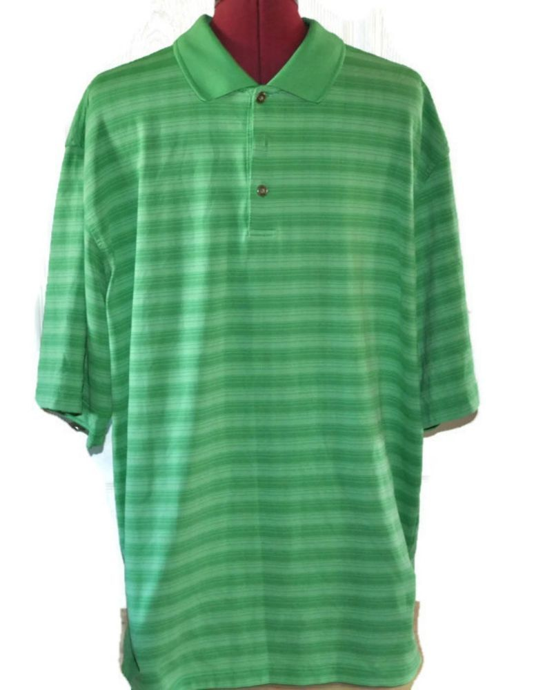 Pebble Beach Performance Golf Polo Shirt Xl Mens Green Active Clothing Shoes
