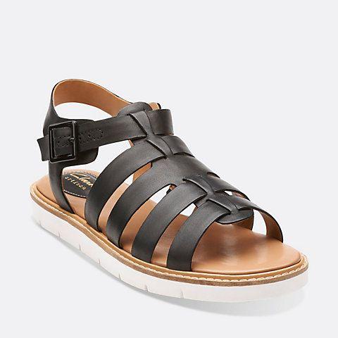 Womens Sandals Clarks Lydie Kona Black Leather