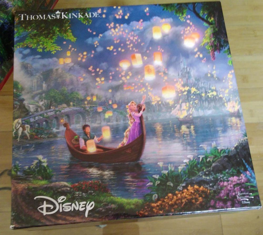 Tangled 300 Piece Puzzle 2222-6 Thomas Kinkade Disney Dreams Princess