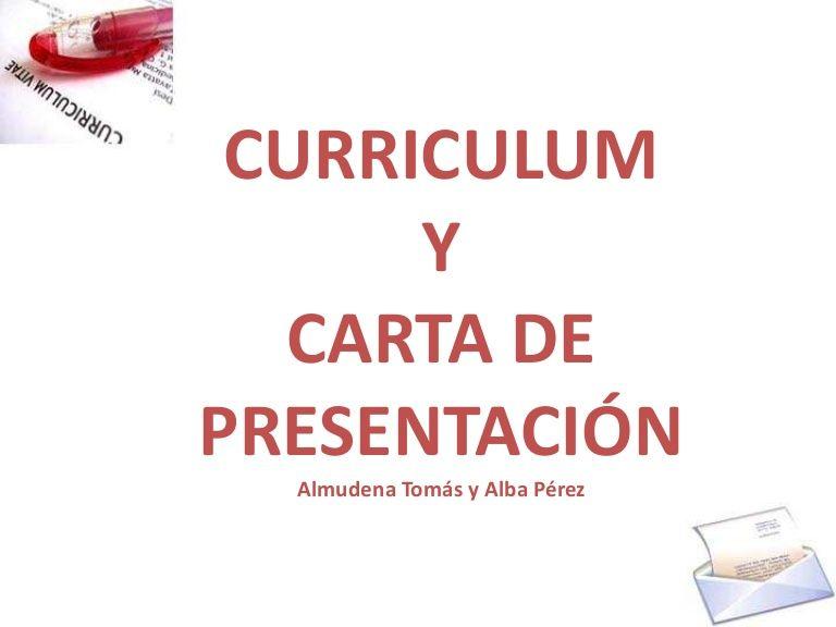 Cv y carta de presentación by Cristina Hernando Polo via slideshare ...