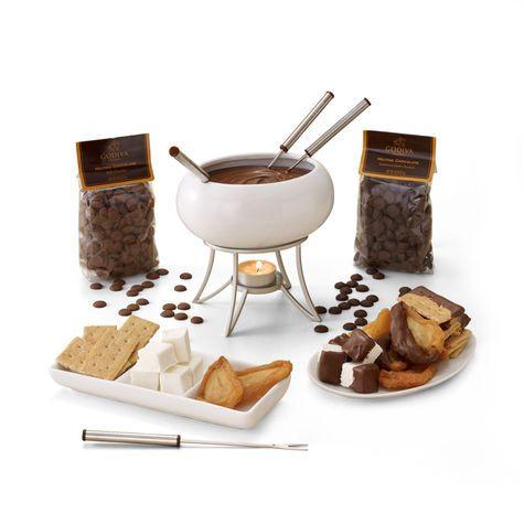 Chocolate Fondue Gift Set #GODIVA ($48.00)