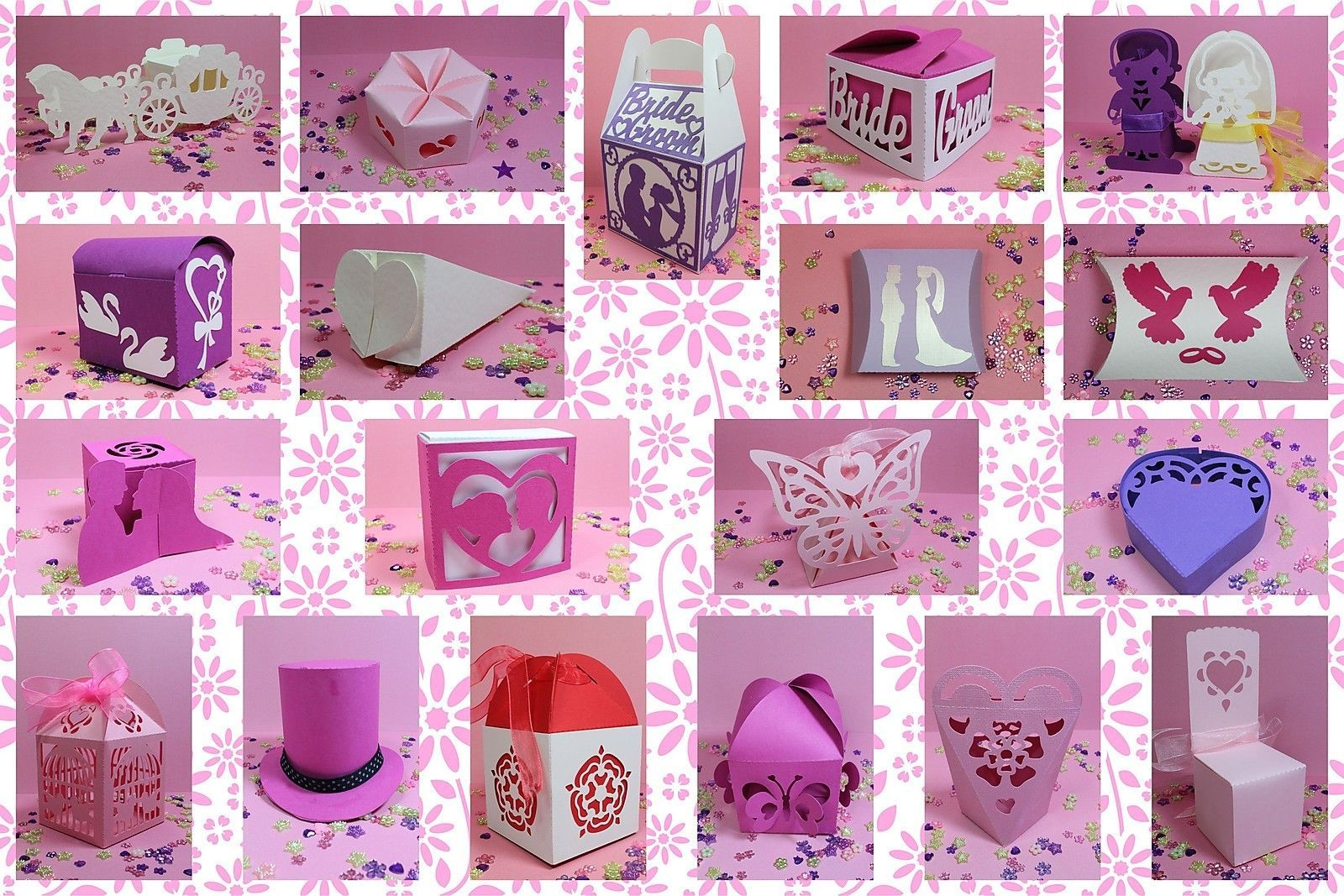 Details about Brother ScanNCut Wedding favour box templates