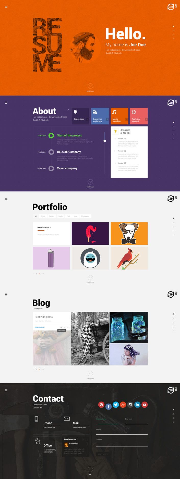 Wordpress Resume Theme Resume  WordPress Resume Theme  Pinterest  Vivid Colors Cv .