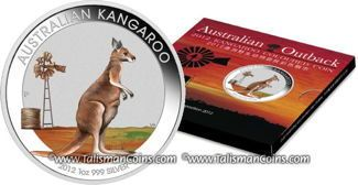 Australia 2012 Outback #2 Kangaroo Beijing Coin Show Special $1 Silver Color