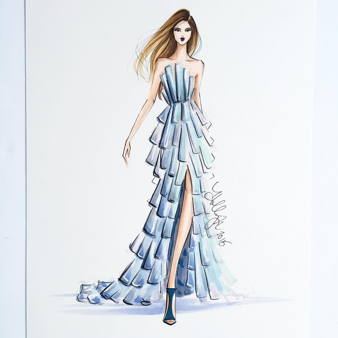Holly Nichols On Instagram One Of A Kind Original Sketch For Sale For Pricing And Info Email Fashion Design Sketches Fashion Illustration Fashion Design