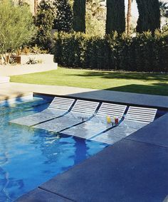 Cool Pool Lounge Chairs Relax Pool Pinterest Covered Pool Pool Designs And Shelves