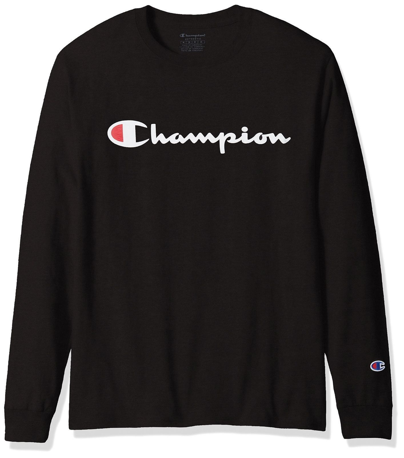 CHAMPION Mens LONG SLEEVE TShirt SCRIPT LOGO Supreme