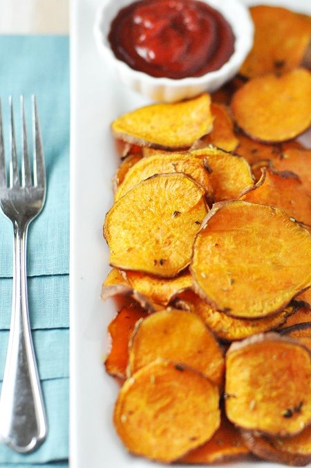 // baked sweet potato fries