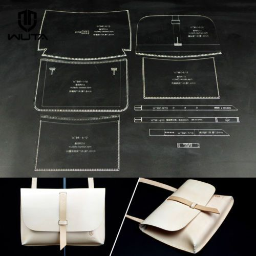 Photo of Details about WUTA Shoulder Bag Acrylic Leather template Handbag Pattern Leather Craft 861
