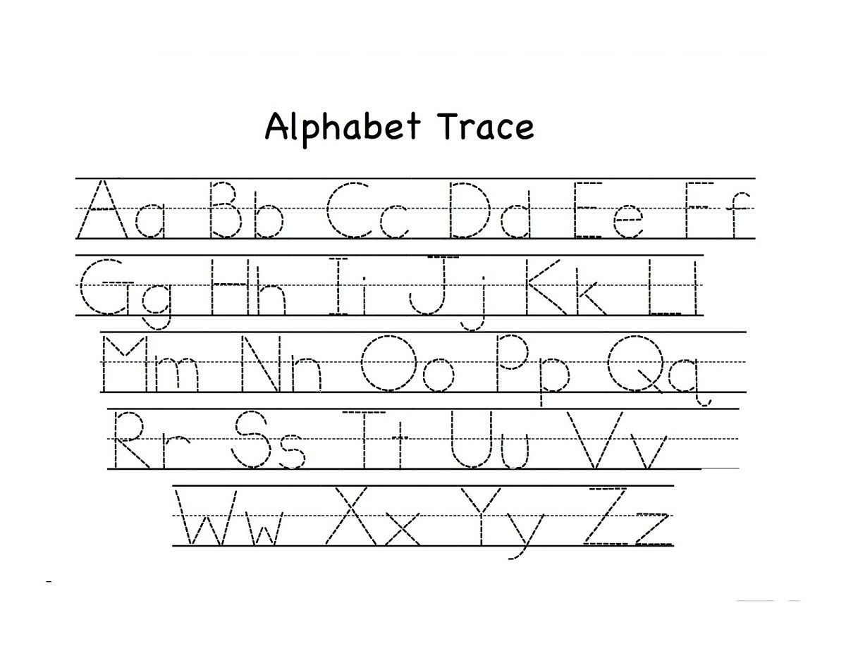 Abc Alphabet Worksheets Trace Printable Abc Alphabet