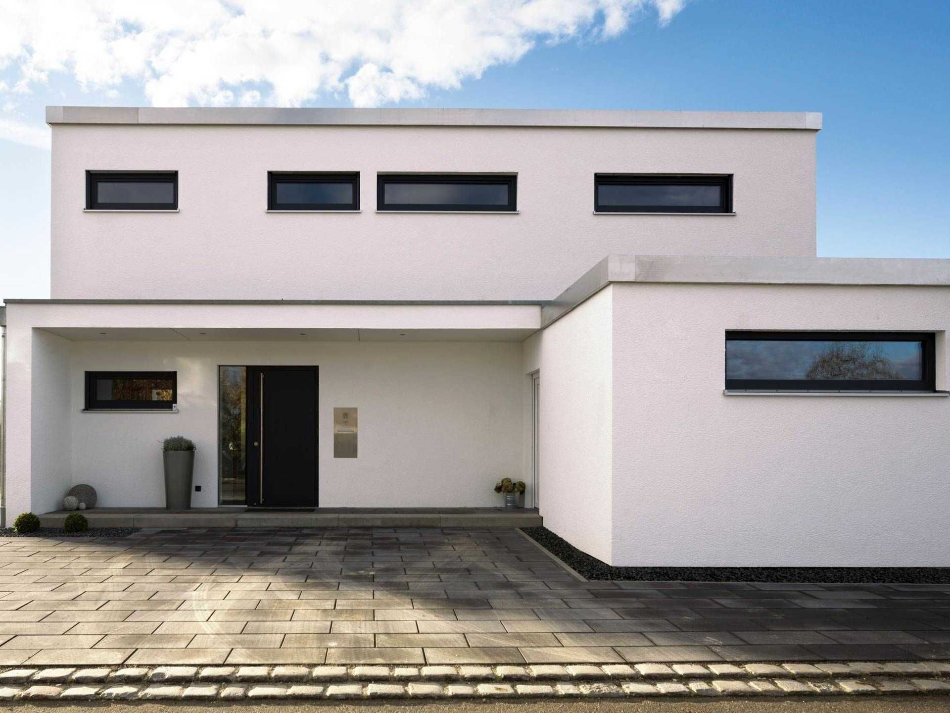 Kubus Haus Ulm Regnauer Hausbau Outdoor decor, Bauhaus