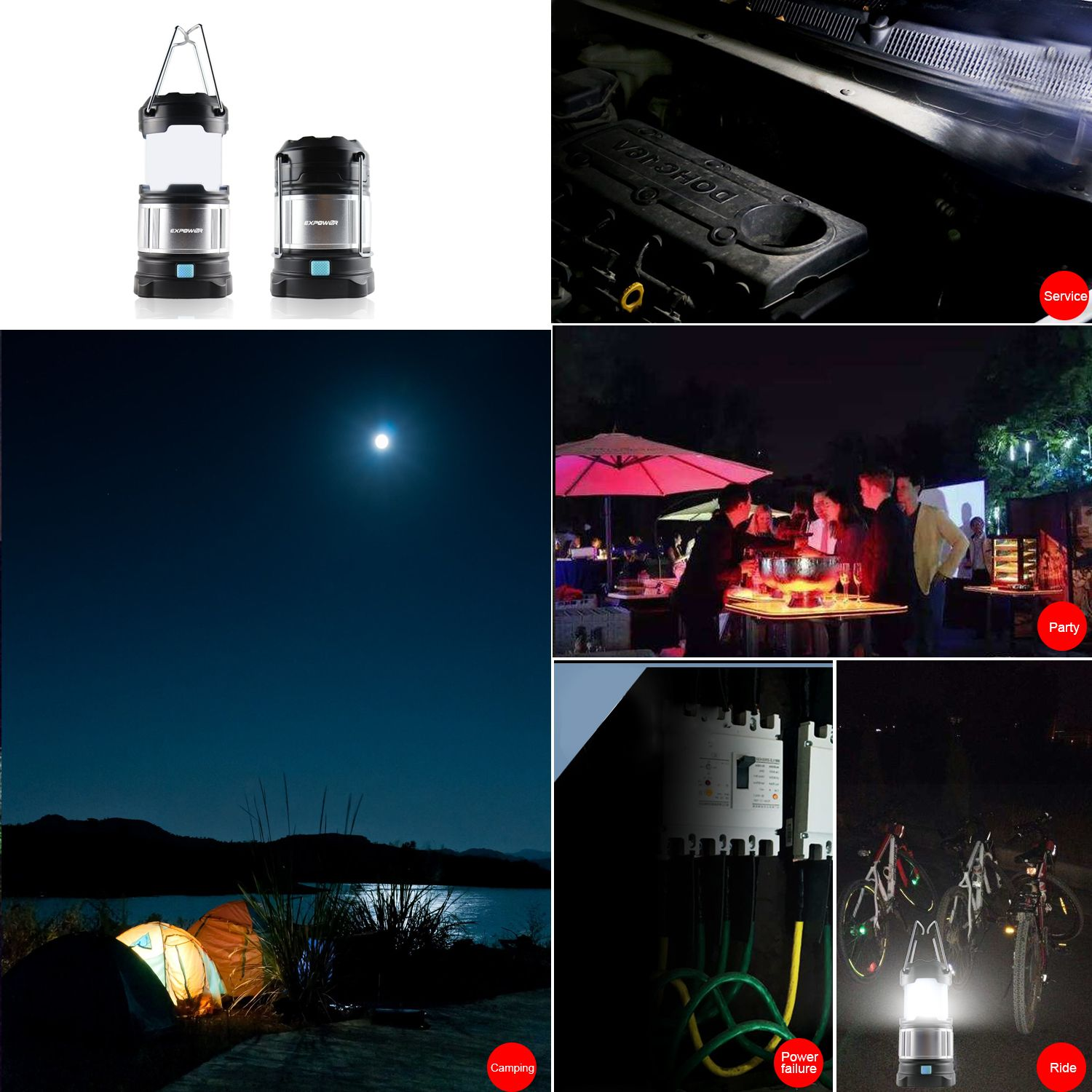 Gartenlaterne Led Expower Ipx5 Wasserdicht Tragbare Led Camping Laterne Helle