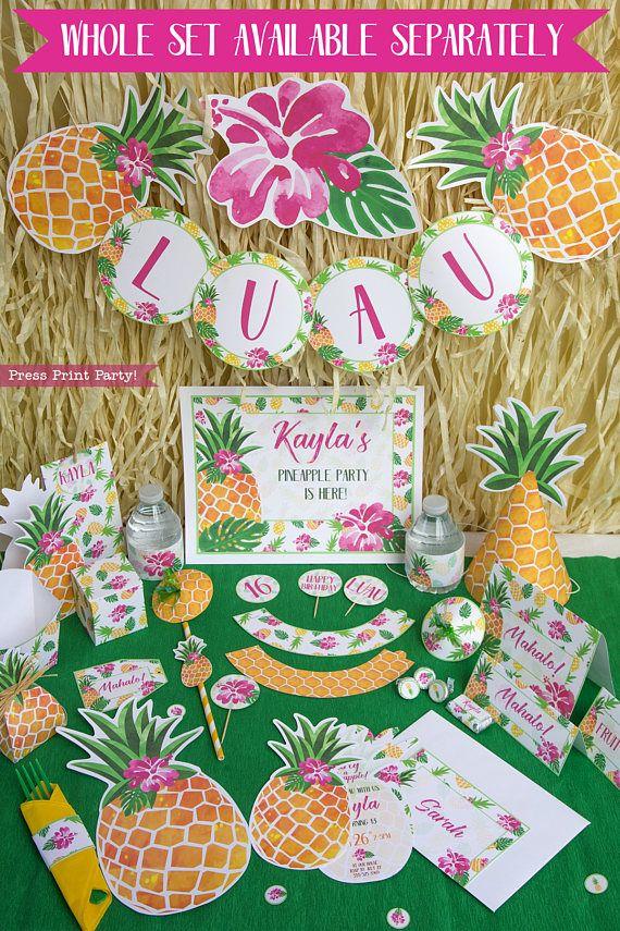 pineapple invitation printable luau invitation gold pineapple