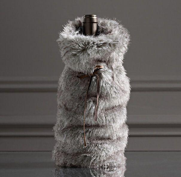 64013565d6bc Luxe Faux Fur Wine Bag