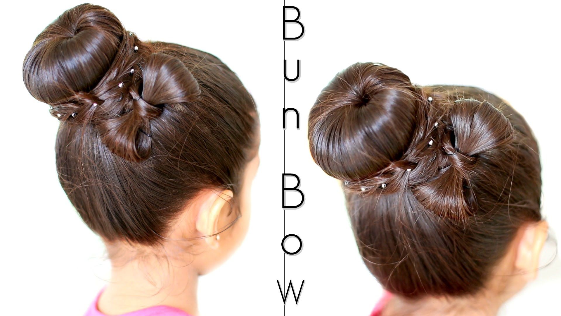 easy donut bun updo with a bow hairstyle | shrutiarjunanand