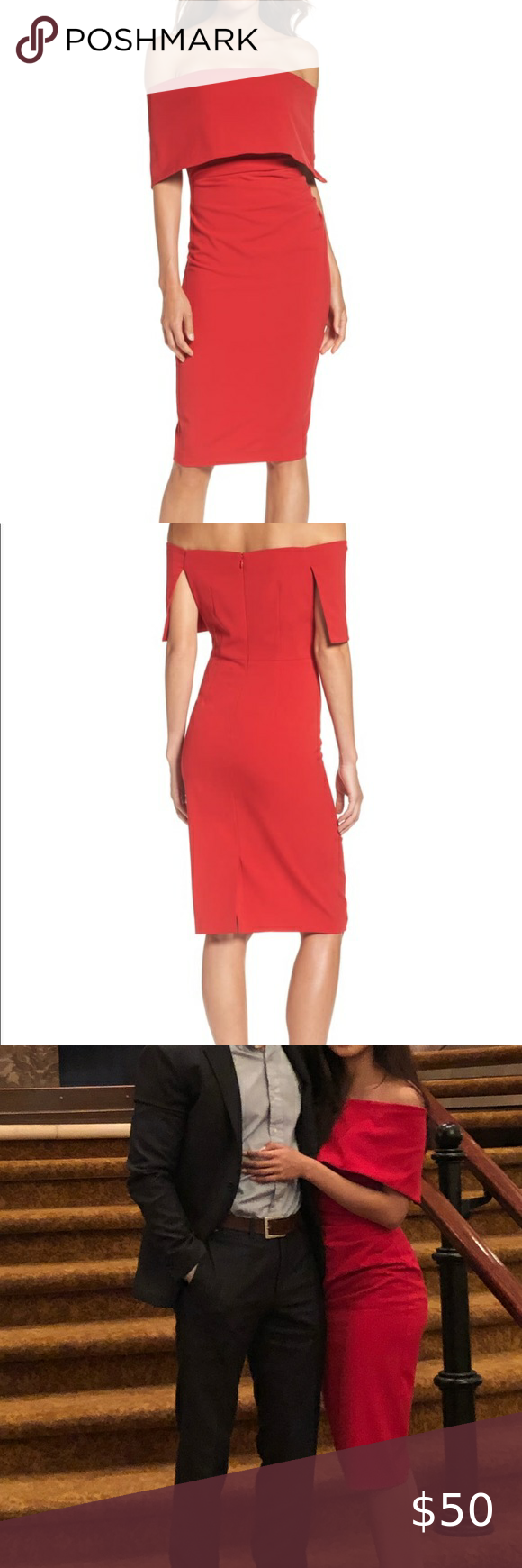 Vince Camuto Red Cocktail Dress Red Cocktail Dress Dresses Clothes Design [ 1740 x 580 Pixel ]