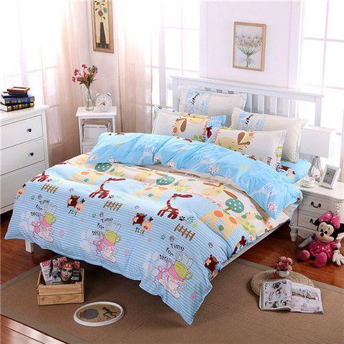Yokasi Fashion Cartoon Comforter Bedding Set Bed Linen 3d Duvet Cover Bed Sheet Pillowcases Full Queen Size Bedding Sets With Images Designer Bed Sheets