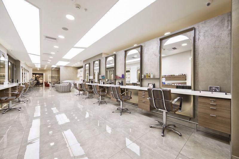 Trio Coiffeur Hairdresser Stylist Salon Acibadem Akasya Shopping Mall Istanbul Kerastes Hair Trend Haircut Om Salon Decor Beauty Studio Spa Design