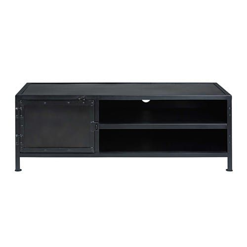 Meuble Tv Indus 1 Porte En Métal Noir Interior Decor Pinterest