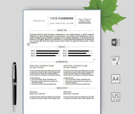 Professional Resume Template for Word, Pages and OpenOffice