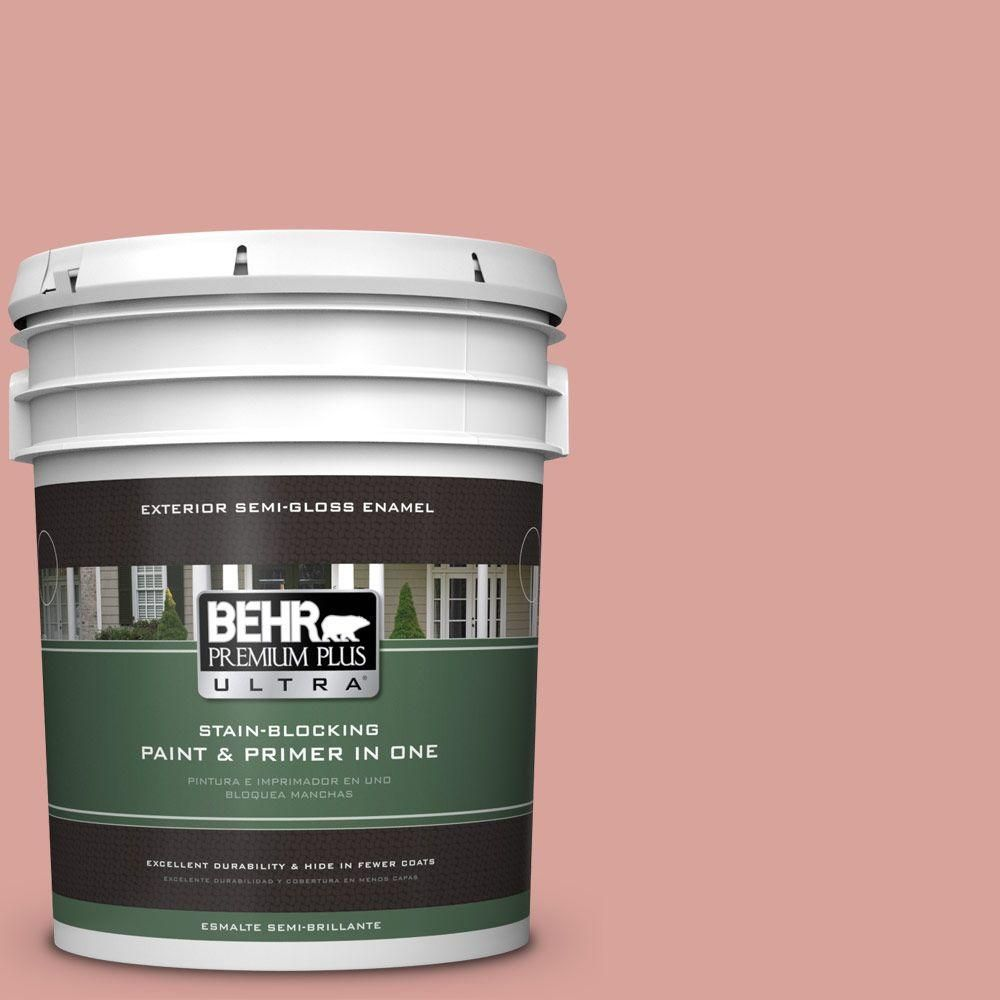 BEHR Premium Plus Ultra 5-gal. #pmd-70 Cottage Rose Semi-Gloss Enamel Exterior Paint